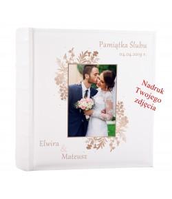 ALBUM NA ZDJĘCIA WSUWANE Z NADRUKIEM 200 zdjęć 10x15 ślubny personalizowany PREZENT NADRUK UV