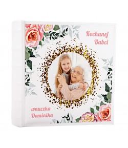 ALBUM NA ZDJĘCIA WSUWANE Z NADRUKIEM 200 zdjęć 10x15 dla babci personalizowany PREZENT NADRUK UV DZIEŃ BABCI