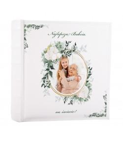 ALBUM NA ZDJĘCIA WSUWANE Z NADRUKIEM 200 zdjęć 10x15 dla babci personalizowany PREZENT DLA BABCI NADRUK UV
